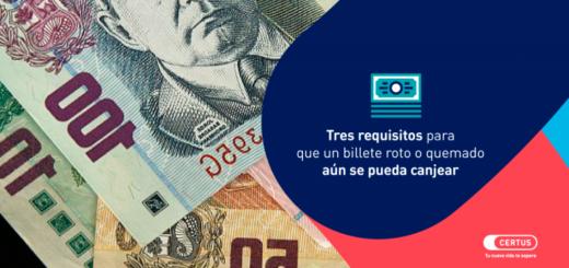 Requisitos para que un billete roto o quemado aún se pueda canjear