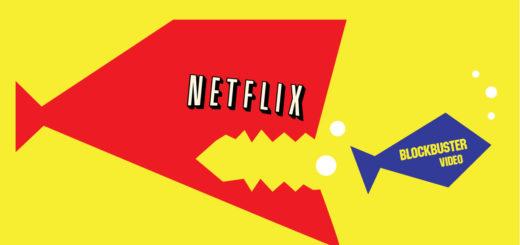 servicio de streaming netflix consumiendo a su competencia, que en realidad nunca lo fue.