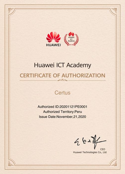 certificado huawei