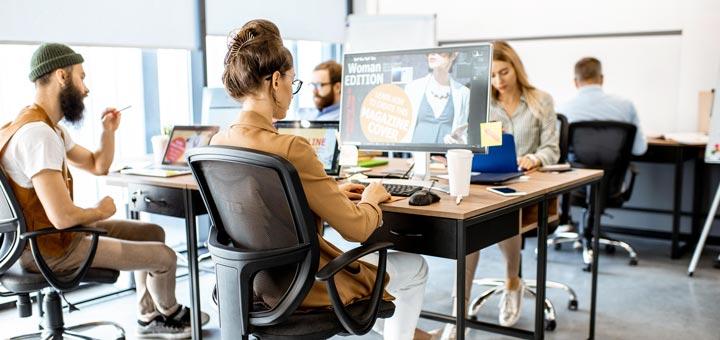 personas computadoras oficina