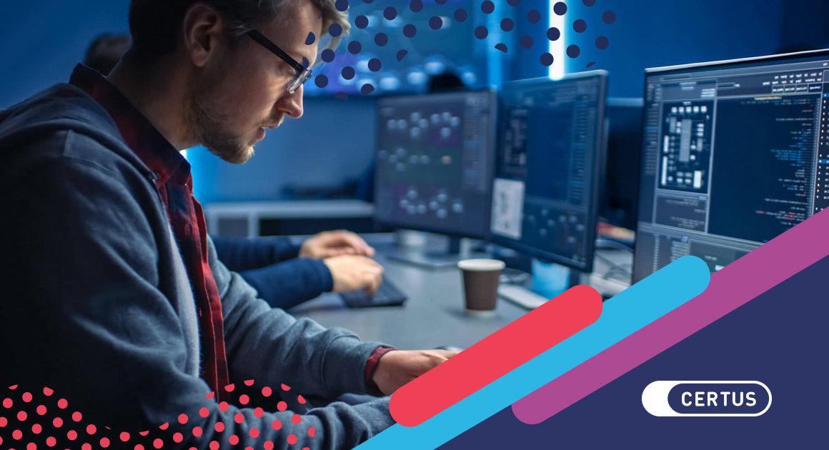 hombre computadoras programación