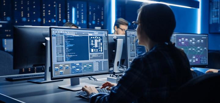 hombres computadoras programadores